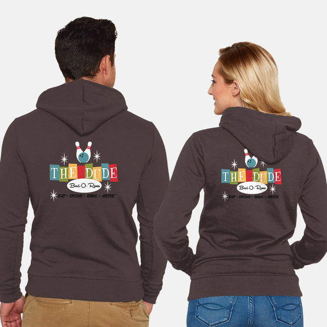The Dude-unisex zip-up sweatshirt-joefixit2