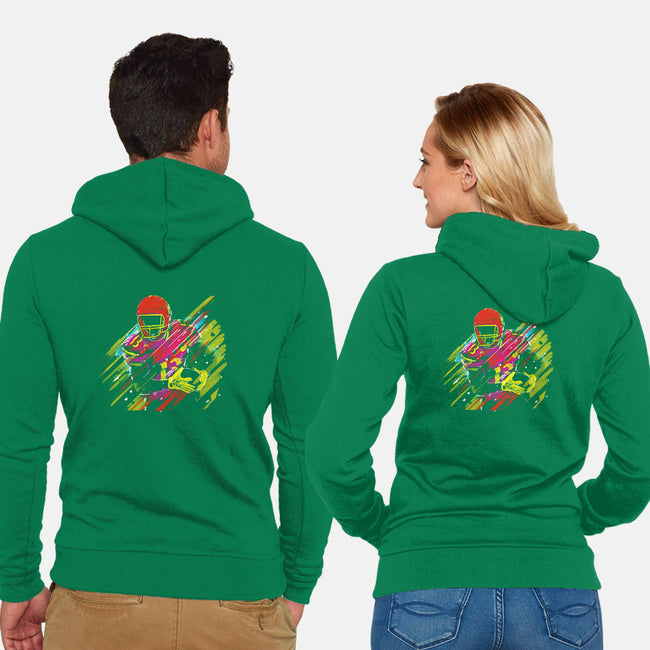 Race to the Touchdown-unisex zip-up sweatshirt-Frederic Levy-Hadida