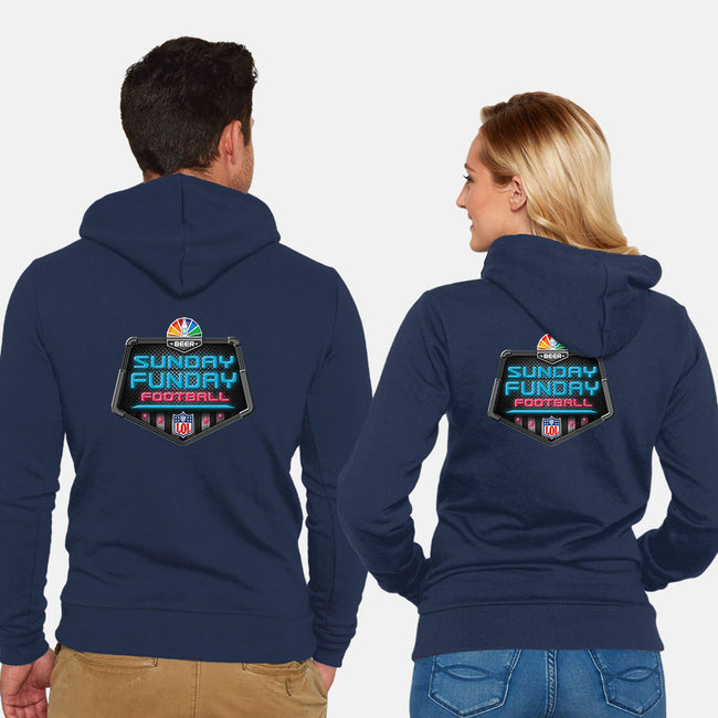 Sunday Funday-unisex zip-up sweatshirt-Cory Lorton