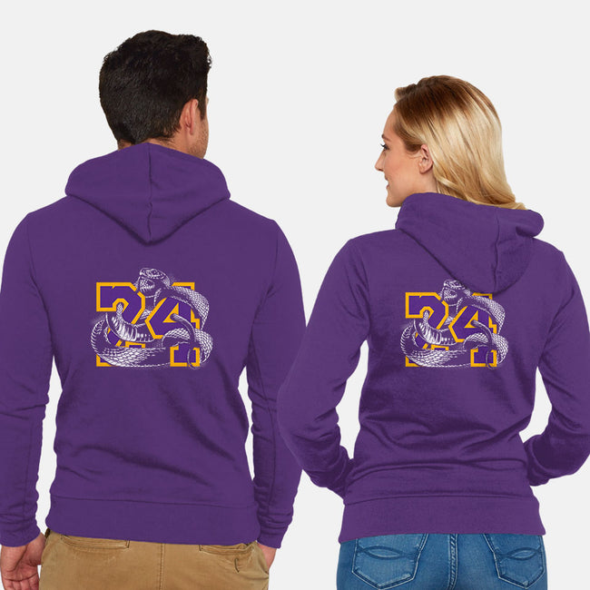 Mamba 24-unisex zip-up sweatshirt-zerobriant