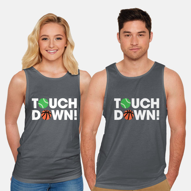 Touchdown-unisex basic tank-Andrew Gregory