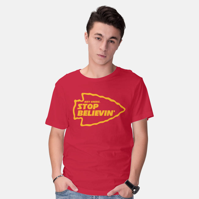 Stop Believin-mens basic tee-RivalTees