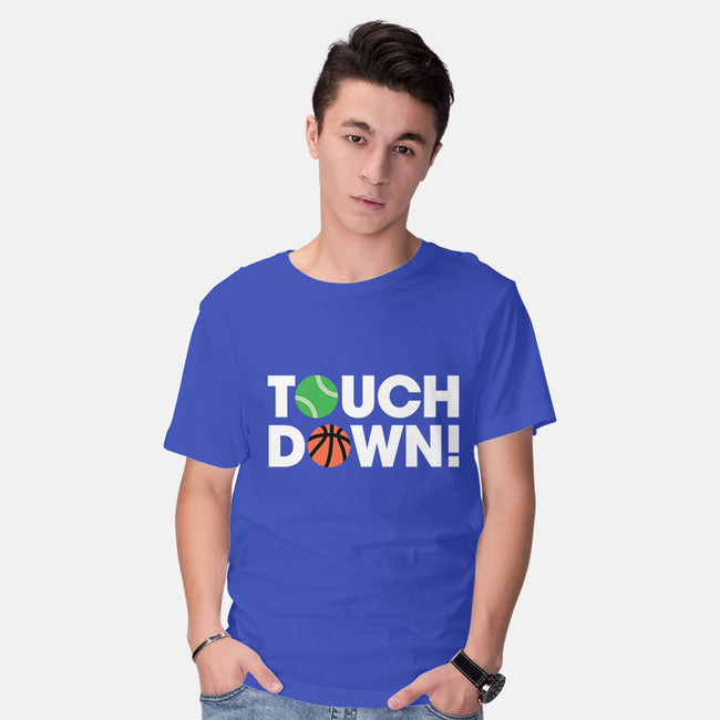 Touchdown-mens basic tee-Andrew Gregory