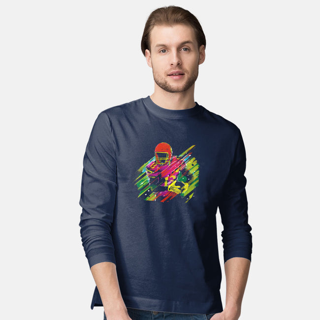 Race to the Touchdown-mens long sleeved tee-Frederic Levy-Hadida