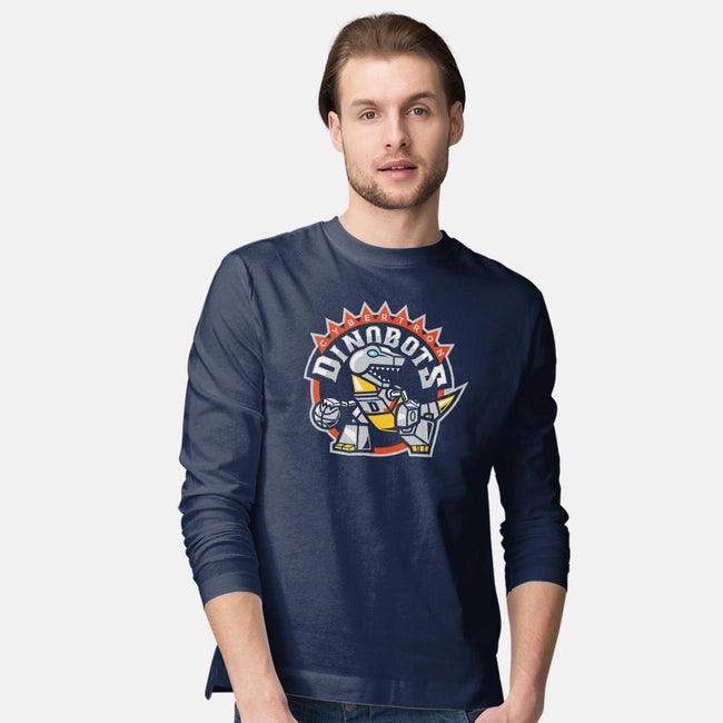 Dino Basketball-mens long sleeved tee-Oktobear