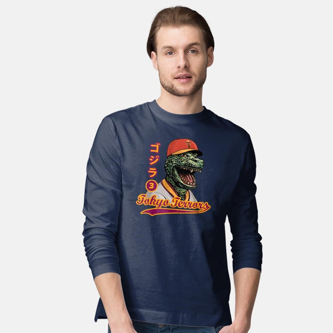 Kaiju Baseball-mens long sleeved tee-ChetArt
