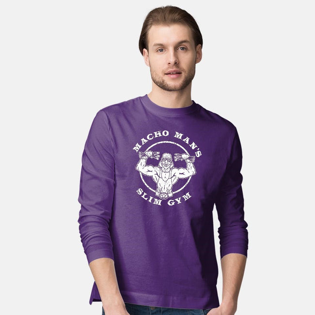 Macho Man's Slim Gym-mens long sleeved tee-krusemark