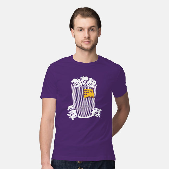 Trash Can Tradition-mens premium tee-christopher perkins