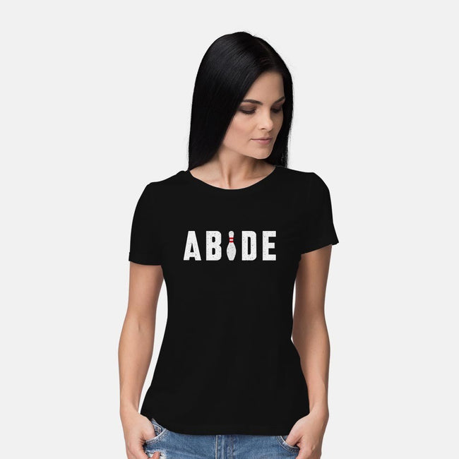 Abide-womens basic tee-lunchboxbrain