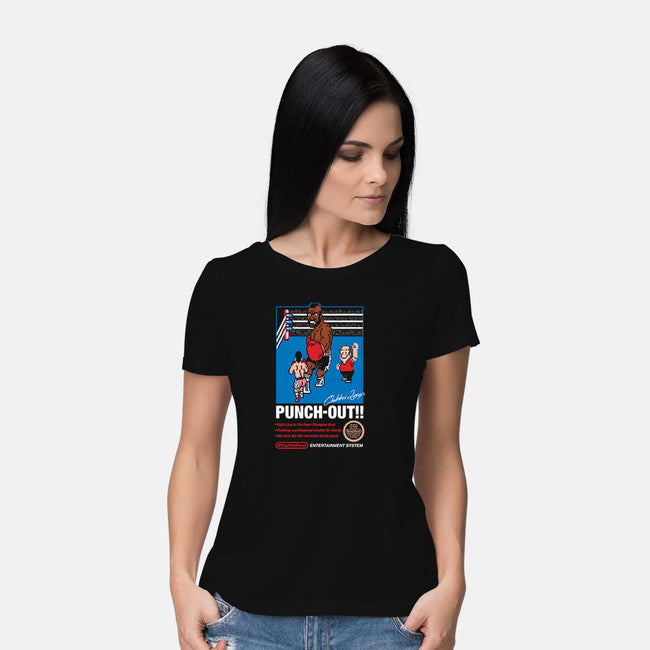 Eye of the Clubber-womens basic tee-mikehandyart