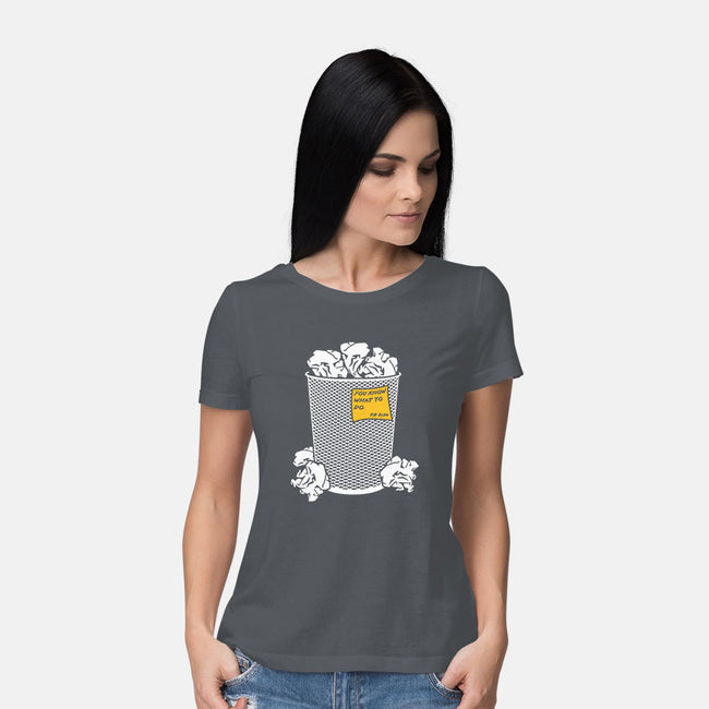 Trash Can Tradition-womens basic tee-christopher perkins