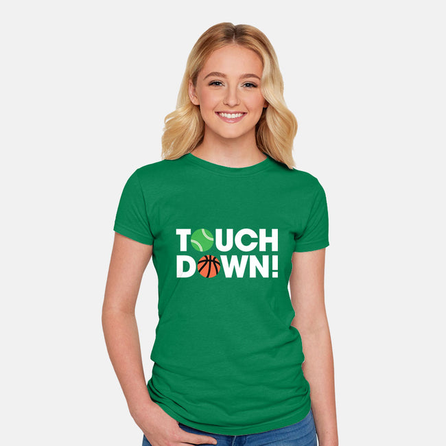 Touchdown-womens fitted tee-Andrew Gregory