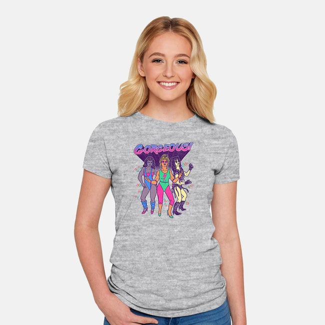 Gorgeous!-womens fitted tee-wytrab8