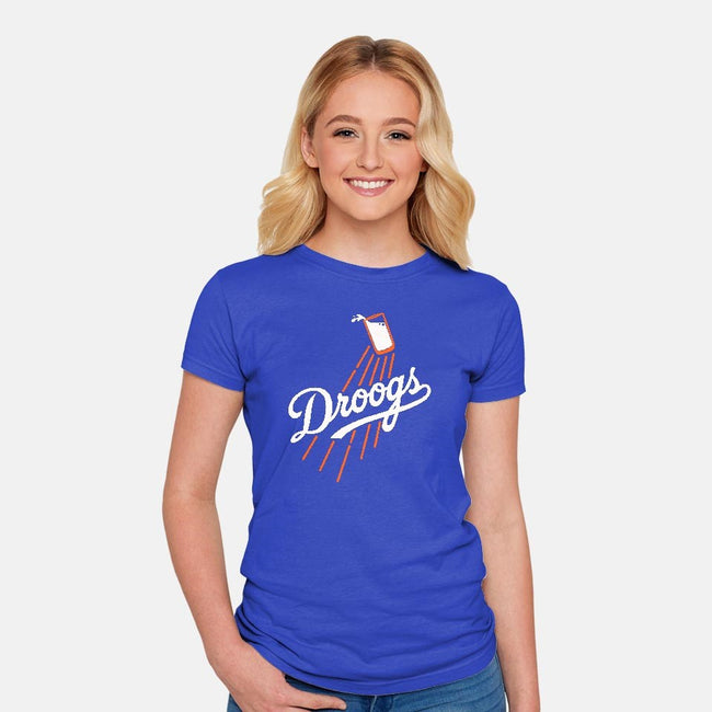 Major League Droogs-womens fitted tee-karlangas