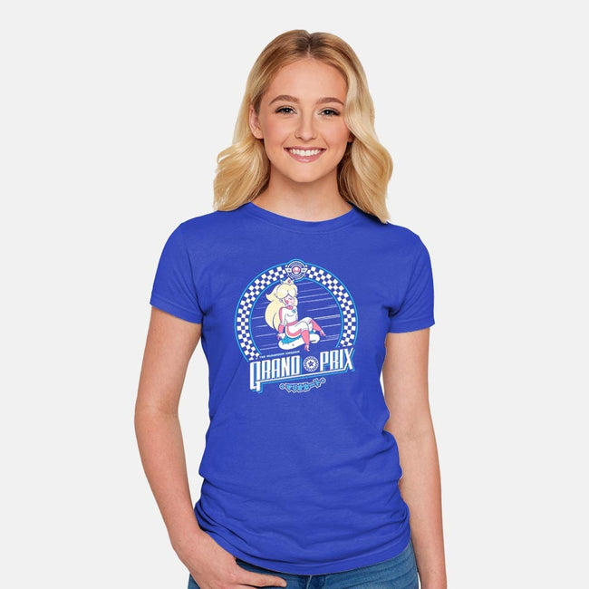 Mushroom Kingdom Grand Prix-womens fitted tee-owlhaus