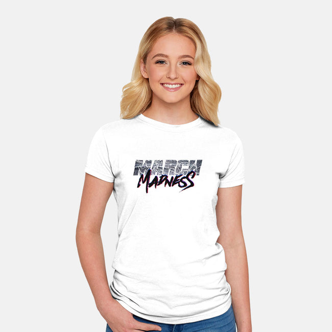 March Madness Live!-womens fitted tee-RivalTees