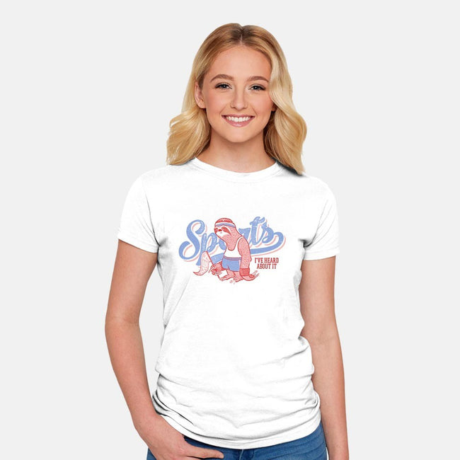 Sports, Meh!-womens fitted tee-vomaria