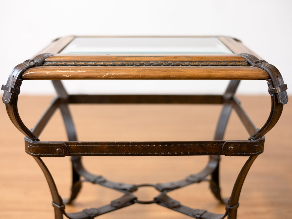 Pair of Equestrian Motif End Tables