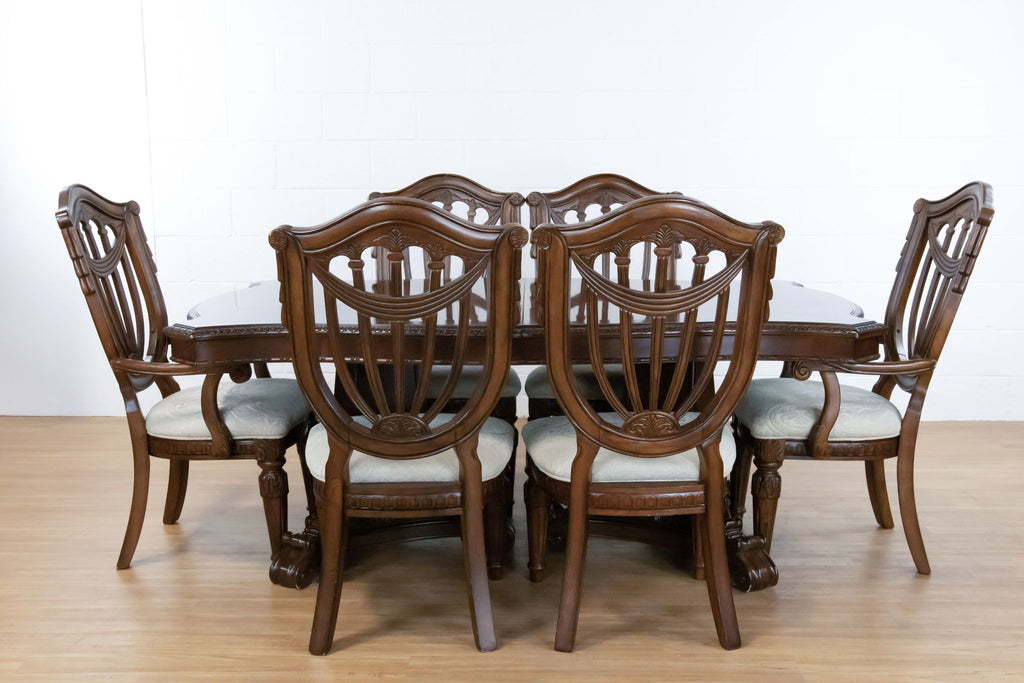 Raymour & Flanigan Solid Wood Dining Set