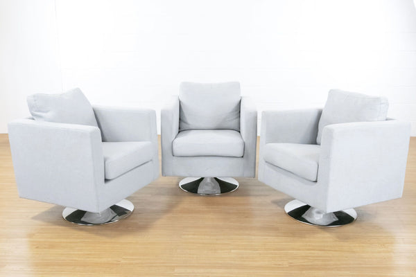 Set of Three Noble House Holden Swivel Chairs