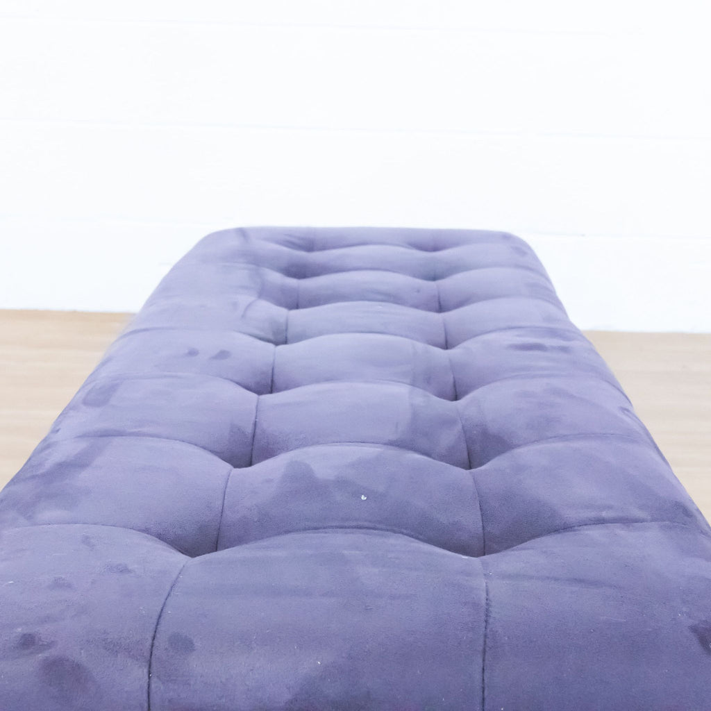 Purple Upholstered Ottoman with Storage