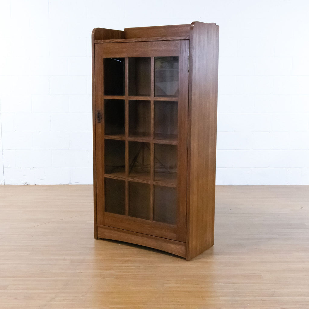 Pair of Mission Style Wooden Bookcases