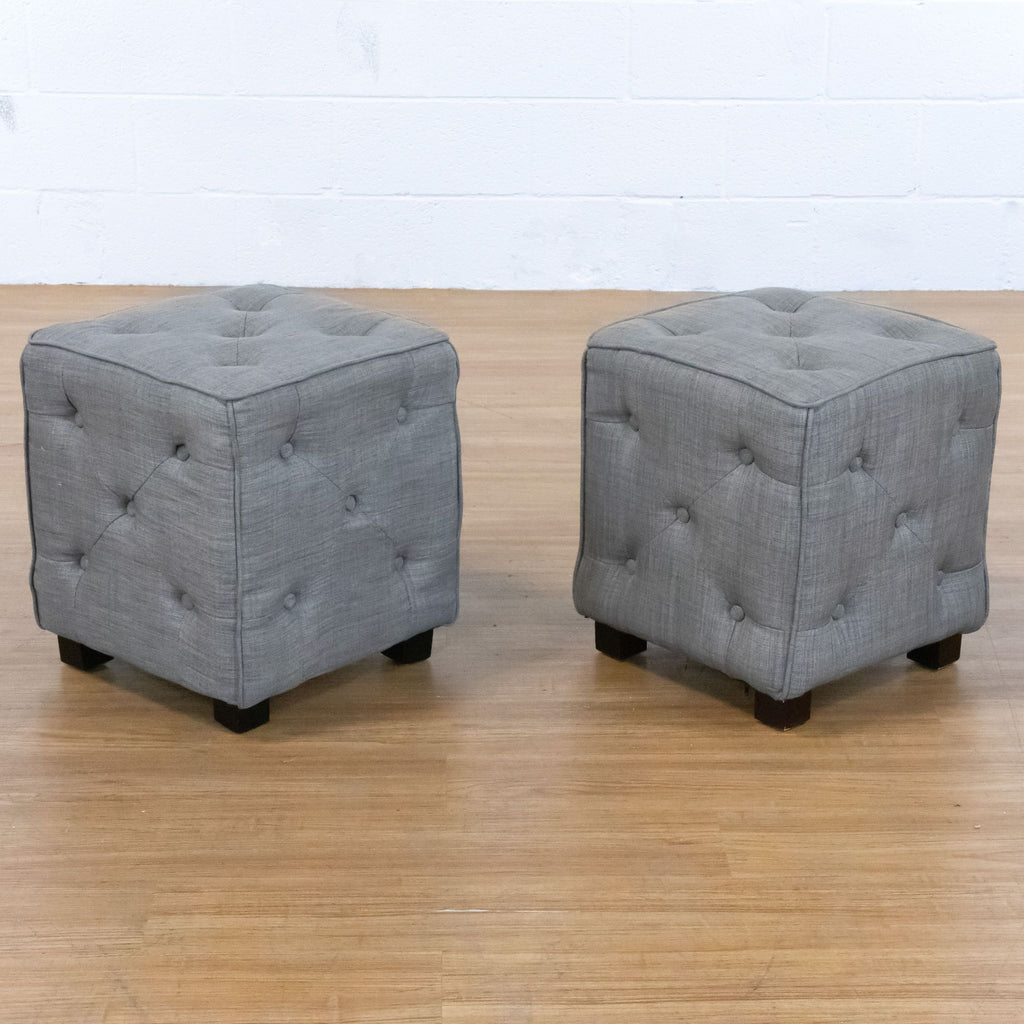 Gray Upholstered Ottomans