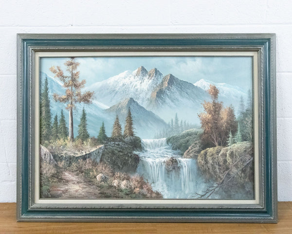 Framed Mountain Landscape Painting