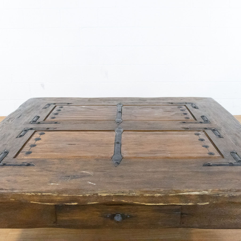Rustic Coffee Table with Drawers