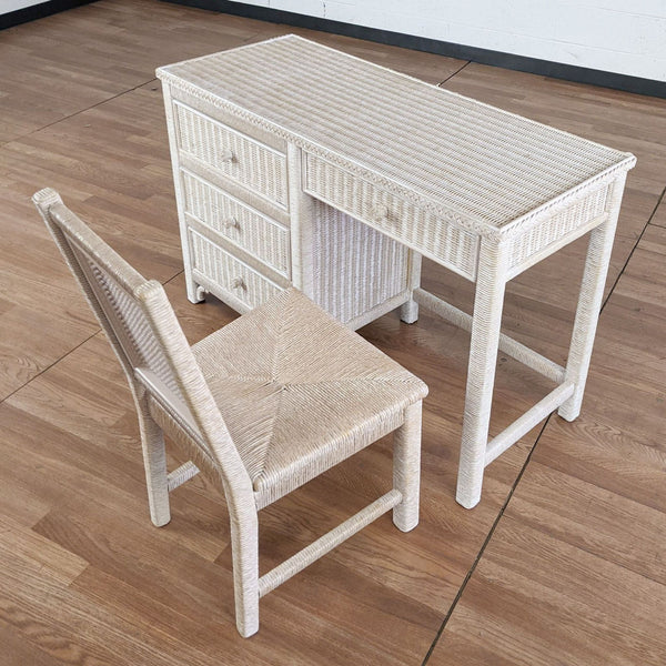 Henry Link Wicker Desk and Chair