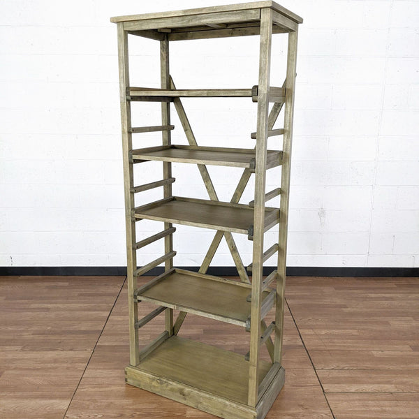 World Market Distressed Wood Shelving Unit