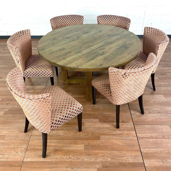 Round Lorts Custom Wooden Table and Kaleidoscope Chairs