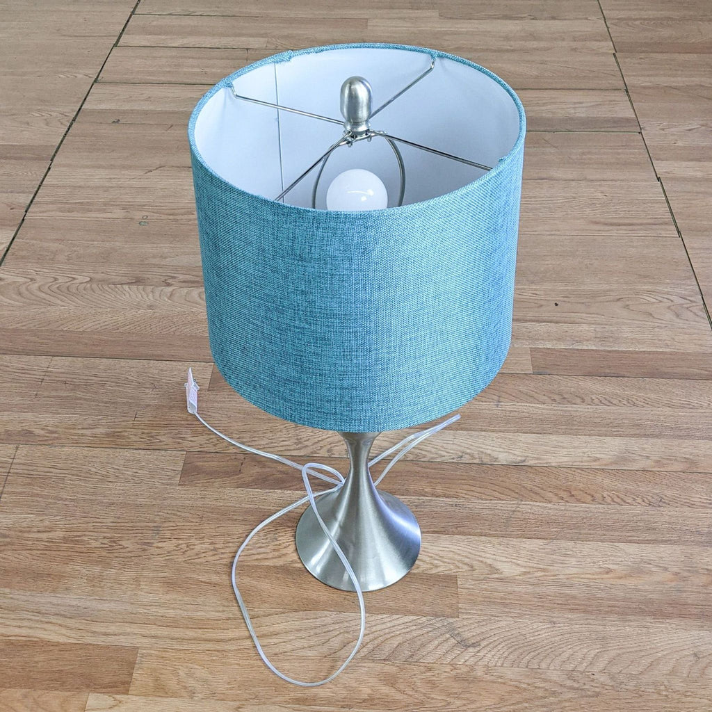Grandview Gallery Table Lamps with Turquoise Shade