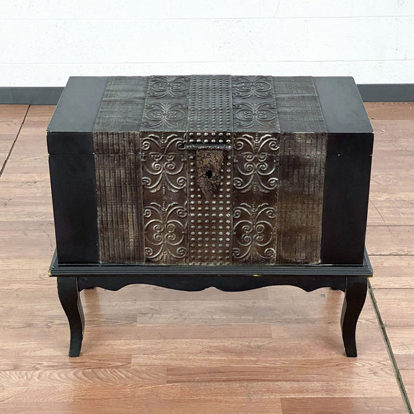 HomeGoods Metal & Wood Trunk on Stand