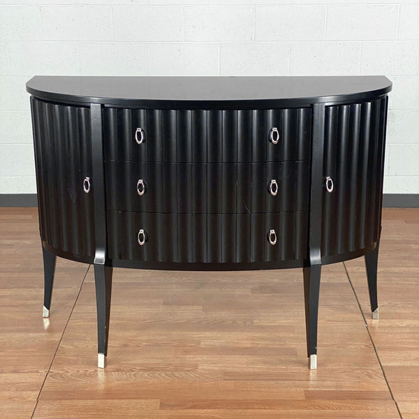 Fluted Demilune Buffet Table
