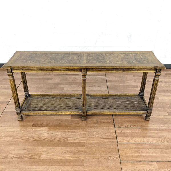 Two Tier Wooden Console Table