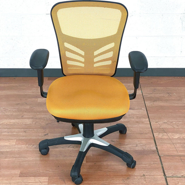 Billups Ergonomic Mesh Task Chair in Yellow