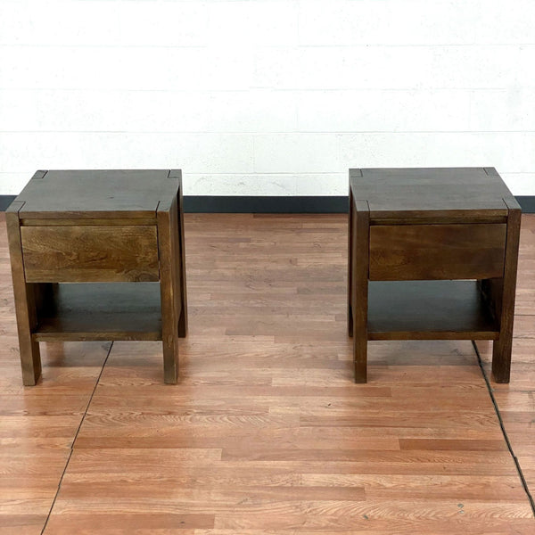 Pair of West Elm Wooden Nightstands