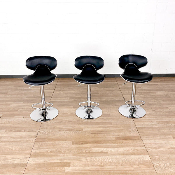 Black and Chrome Bar Stools