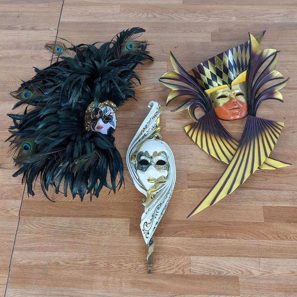 Three Venetian Carnivale Masks