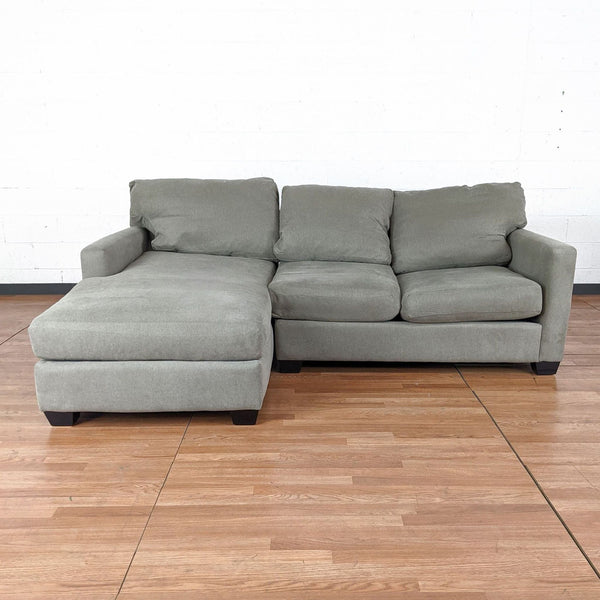 Gray Upholstered Sectional Sofa