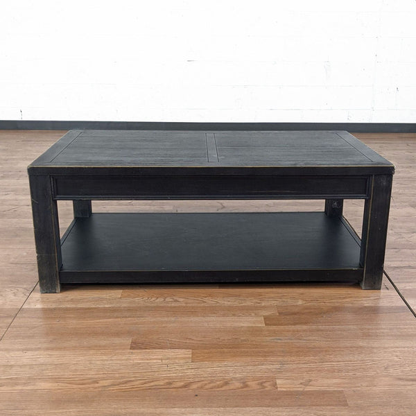 Two Tier Wood Coffee Table