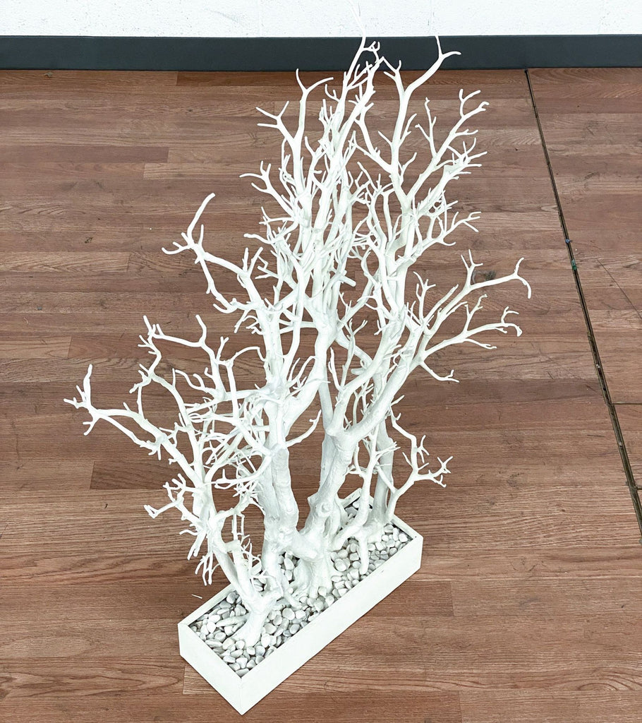 Z Gallerie White Tree Branch Decor in Pot
