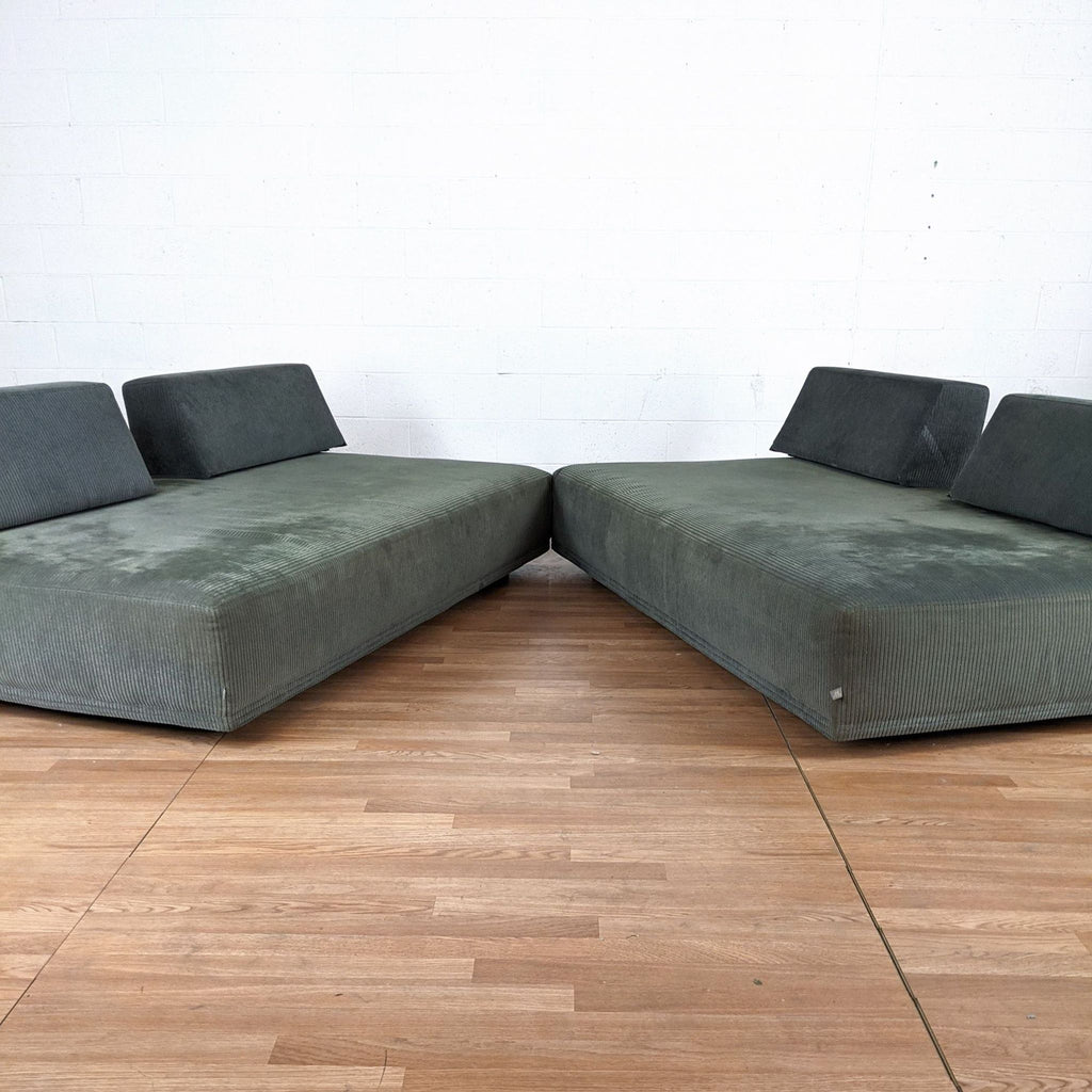 Gray Upholstered Convertible Sofas