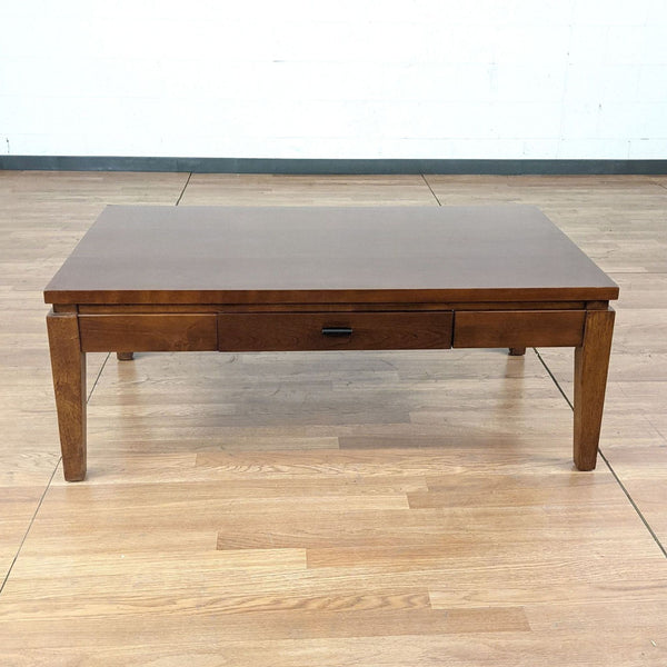 One Drawer Wood Coffee Table
