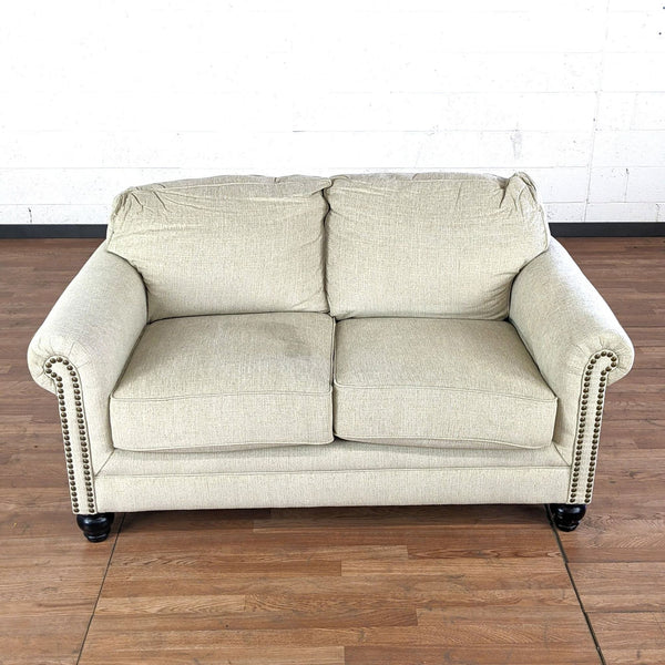 Ivory Upholstered Loveseat