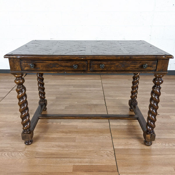 Theodore Alexander Castle Bromwich Collection Antique Wood Desk