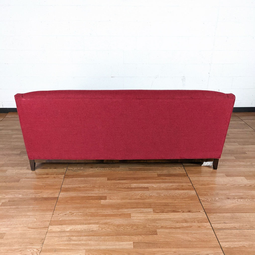 Red Upholstered Sofa