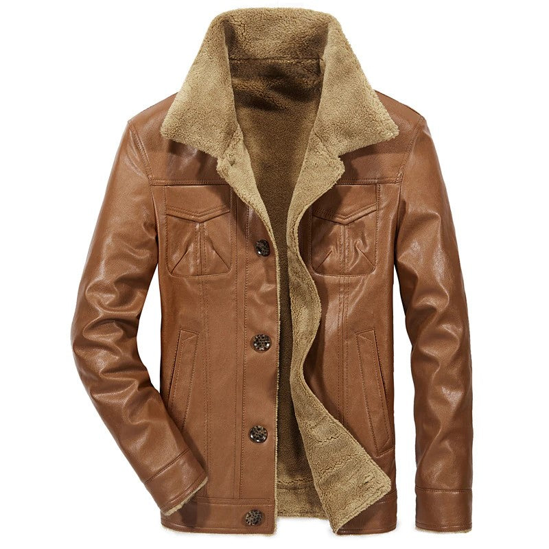 Blouson Aviateur Doublure Synthetique Marron