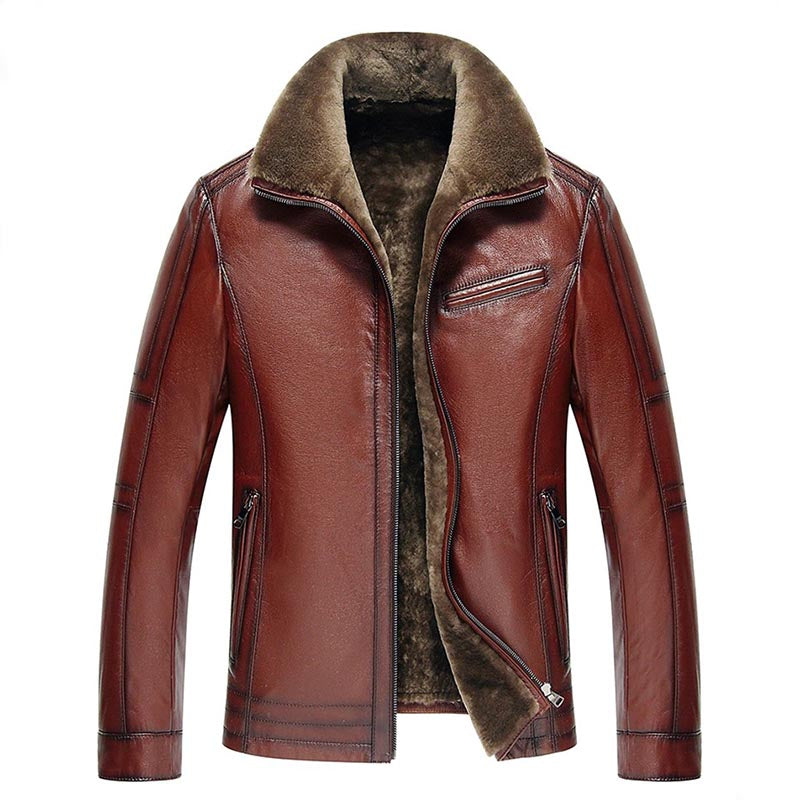 Blouson Aviateur Long Vachette Marron